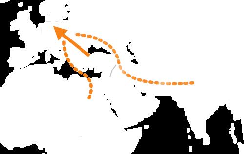 Ruta de los migrantes desde Turquía hasta Alemánia