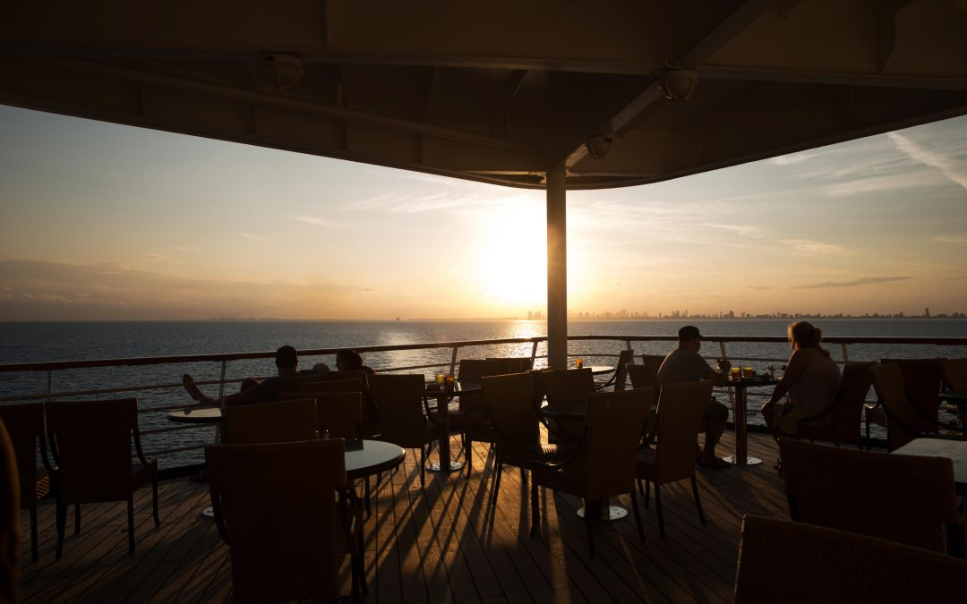 "Sunset aboard the Carnival Ecstasy. "" They don't want you to think that you are riding on a huge septic tank full of sewage and garbage"",  says Rep. Sam Farr (D-CA). Almudena Toral/Univision"
